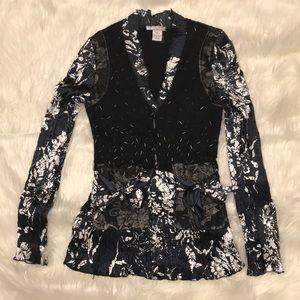 alberto makali Beaded long sleeve blouse
